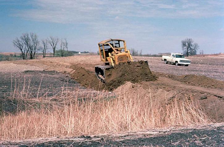 restored, wetlands, heavy, vehicle