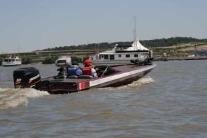 fast, boat, heads, dock