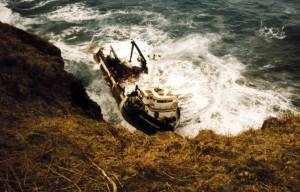 Américaine, bateau, épave, georges, île