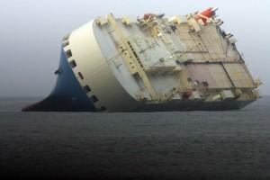 μεγάλος, φορτίου, πλοίο, προσάραξε