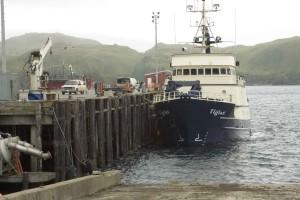 grote, onderzoek, schip gedokt
