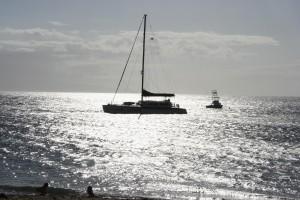 boat, maui, shore