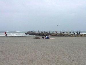 bateau, course, océan, vagues, sable, eau