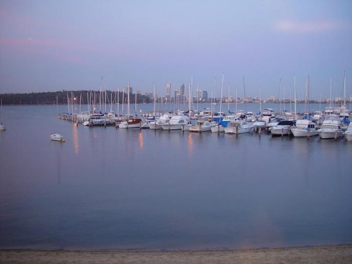 лодки, акостирали, кралски, Пърт, яхта, клуб