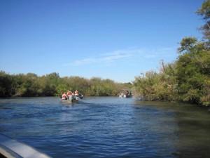 bateaux, l'eau, la liberté, couper, Sacramento, Joaquin, delta