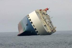 croix, océan, grand, bateau, échoué