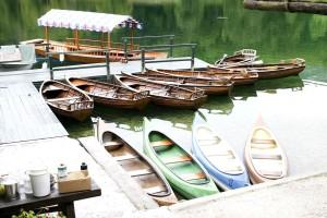 à quai, peu, bateaux