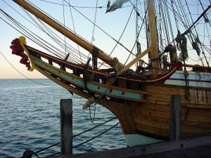 Duyfken, réplique, néerlandais, bateau, denham, requin, baie