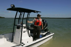 employee, standing, service, boat