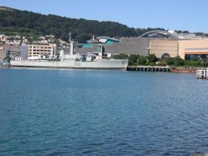 HMNZS, wellington, attaché, à l'extérieur, papa, Tongarewa