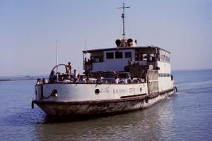 ferry, bateau, jamuna, rivière, Bangladesh, chemin, Rangpur, est, district, Kurigram