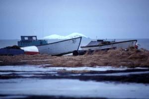 Barcos de pesca, praia