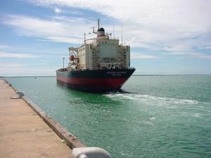 freighter, ship, australian, pride