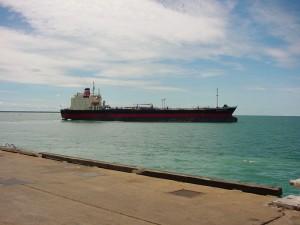 cargo, bateau, australien, fierté, voiles, broome, port