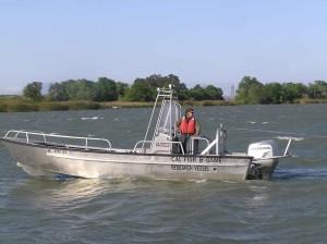 man, driving, survey, boat