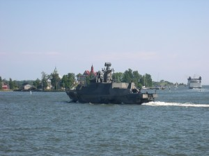 militaire, patrouille, bateau, Helsinki