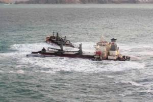 huile, déversements, bateau, épave