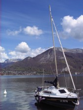 sailboat, annecy, france