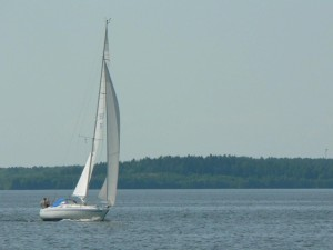 sailing, boat, water