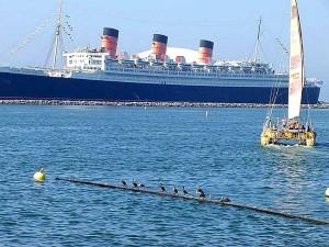 bateau, reine, Marie, océan, revêtement