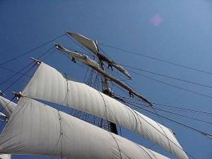 ship, sails, boat