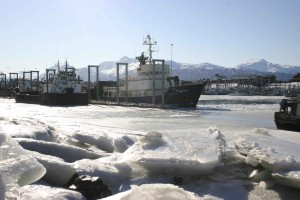 ships, preparing, break, ice, water