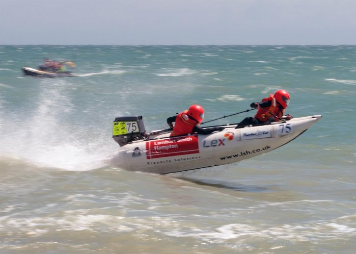 Free picture: small, power, boat, racing