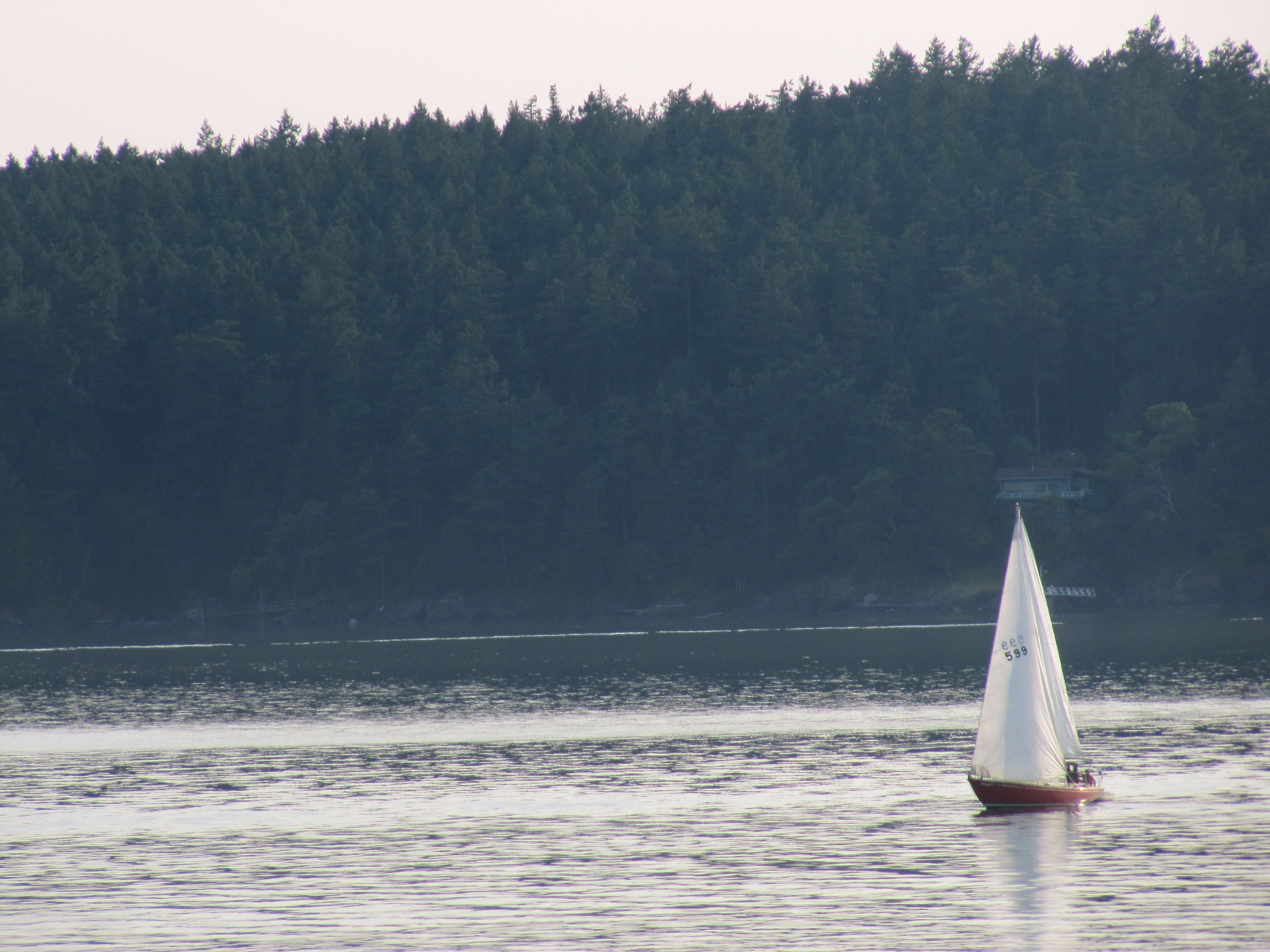 Free photograph; small, wind, boat, Juan, islands