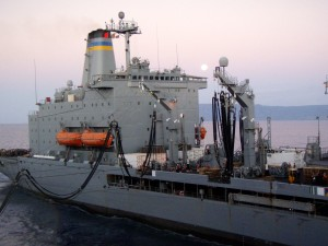 approvisionnement, navire, tiré, avions, transporteur