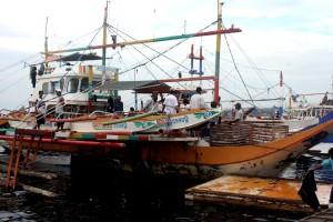 municipal, barco de pesca, pumpboat, Juditha, uno, muchos, barcos