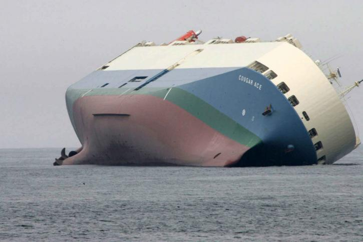 prijevoz, brod, nasukan