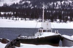 hiver, pêche, bateau de pêche