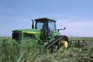 grand, stron, tracteur, wehicle, travail, herbe