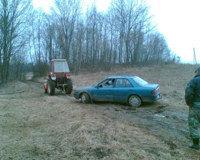 진흙도, 트랙터, 당기고, 자동차