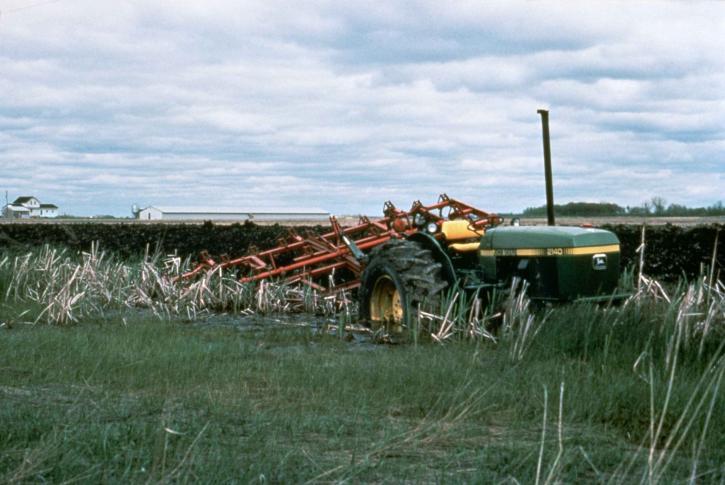 traktor, močvare, pokus, plug, močvara