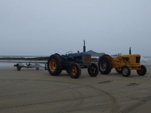 tractors, parking