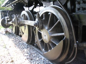 dinky, steam, engine, main, drive, wheel