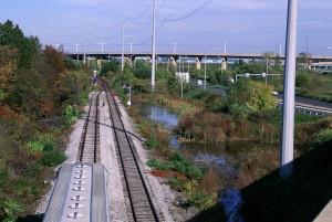 potere, linee, treno, pista