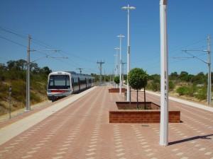 station, plate-forme, le style ancien, Westrail, autorails
