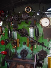 steam, locomotive, controls, dials