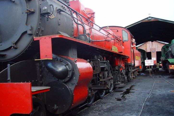 vapeur, locomotive, train