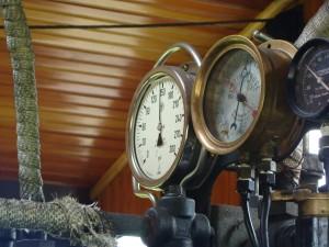 steam, train, gauges