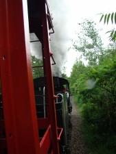 vapor, tren, paseo