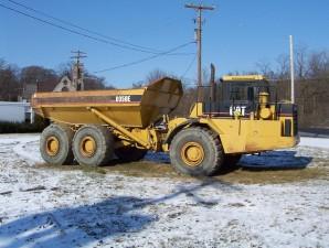 caterpillar, dump, truck