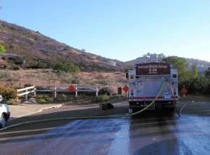incêndio, caminhão, veículo, fogo, ação