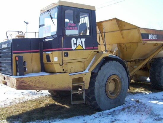 loader, truck, front, view