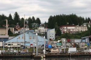 distante, área, Cordova, Alaska