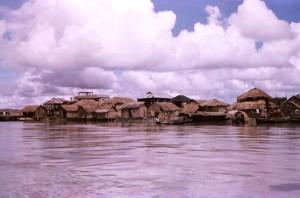 на борда, лодка, Бей, Бенгал, типични, Patuakhali, област, село, държава, Бангладеш