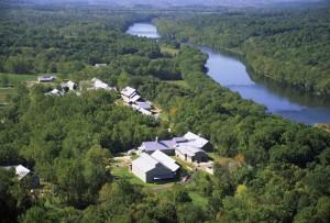 aérea, nacional, la conservación, la formación, centro, NCTC, campus, imagen