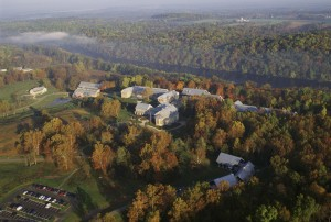 aérea, nacional, la conservación, la formación, centro, NCTC, campus, foto